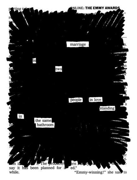 "Austin Kleon, ""What is Marriage?"""