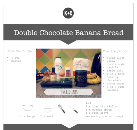 Kitchen+Craft Double Chocolate Banana Bread